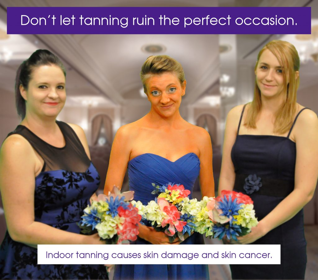 Don't let tanning ruin the perfect occasion poster.